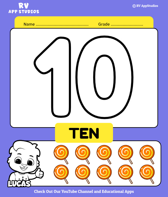 Number 10 Coloring Book