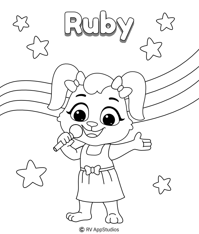 Printable Sing Coloring Pages