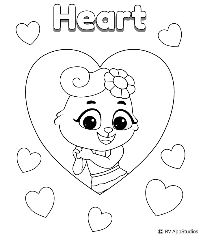 Printable Heart Coloring Pages