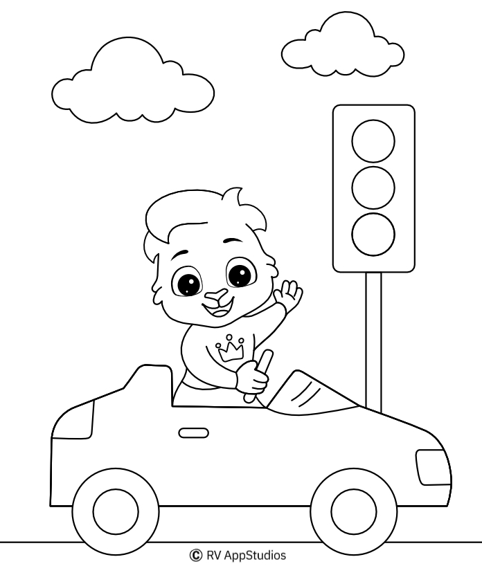 - Car Coloring Pages For Kids