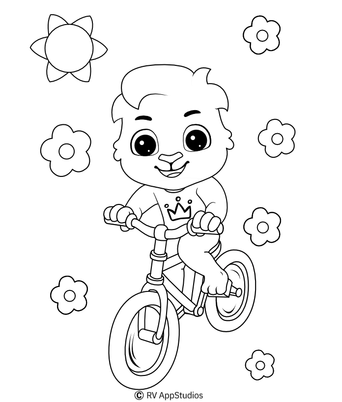 Printable Cycle Coloring Pages