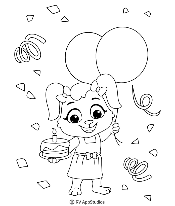 Printable Birthday Coloring Pages