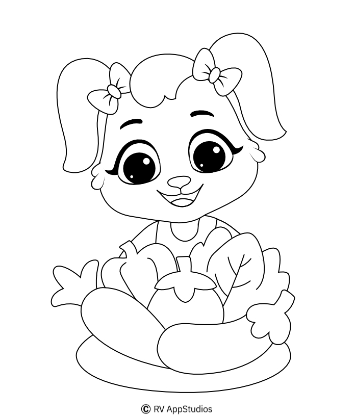 Printable Vegetables Coloring Pages