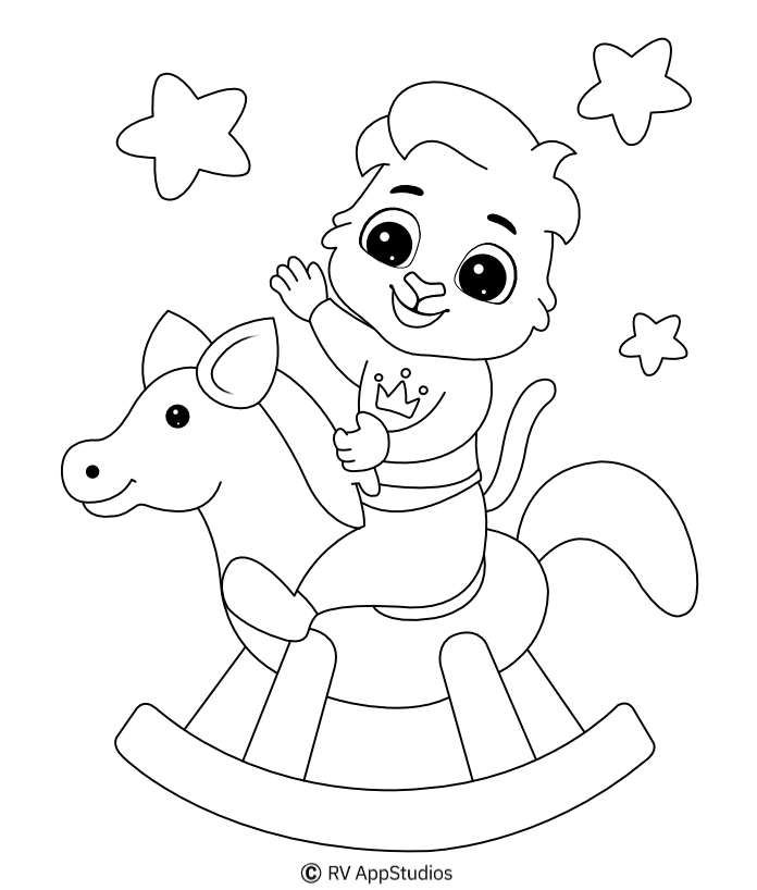 Printable Toy Horse Coloring Pages