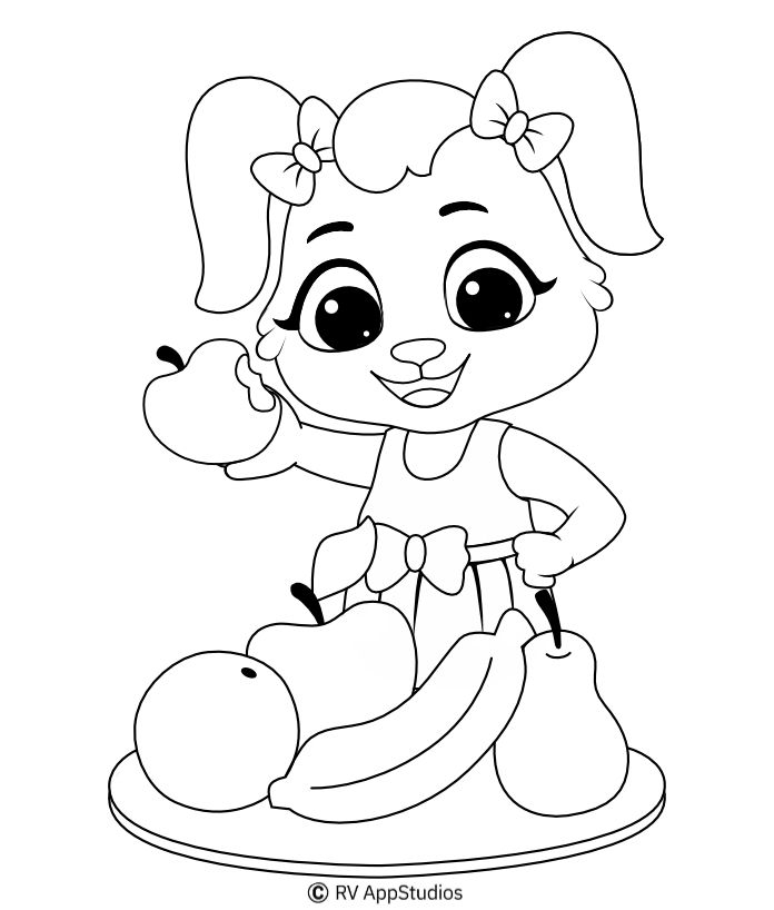 Printable Fruits Coloring Pages