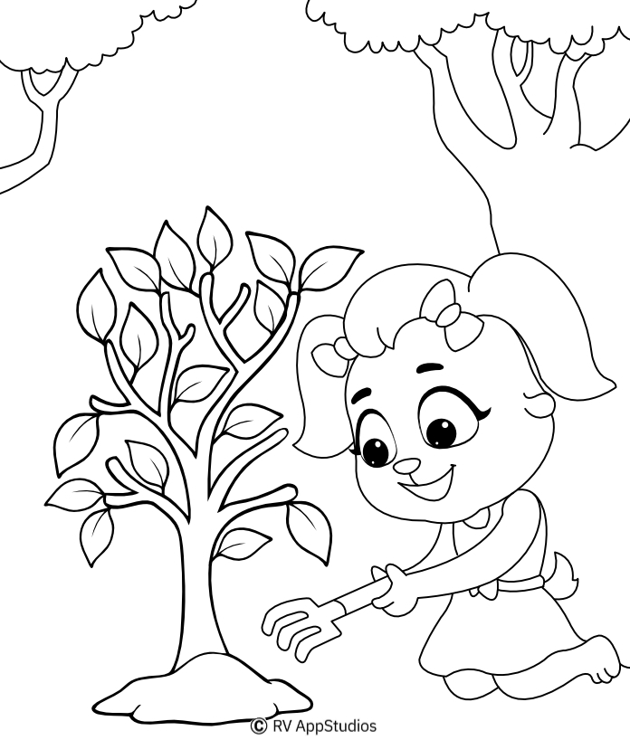 Printable Plantation Coloring Pages
