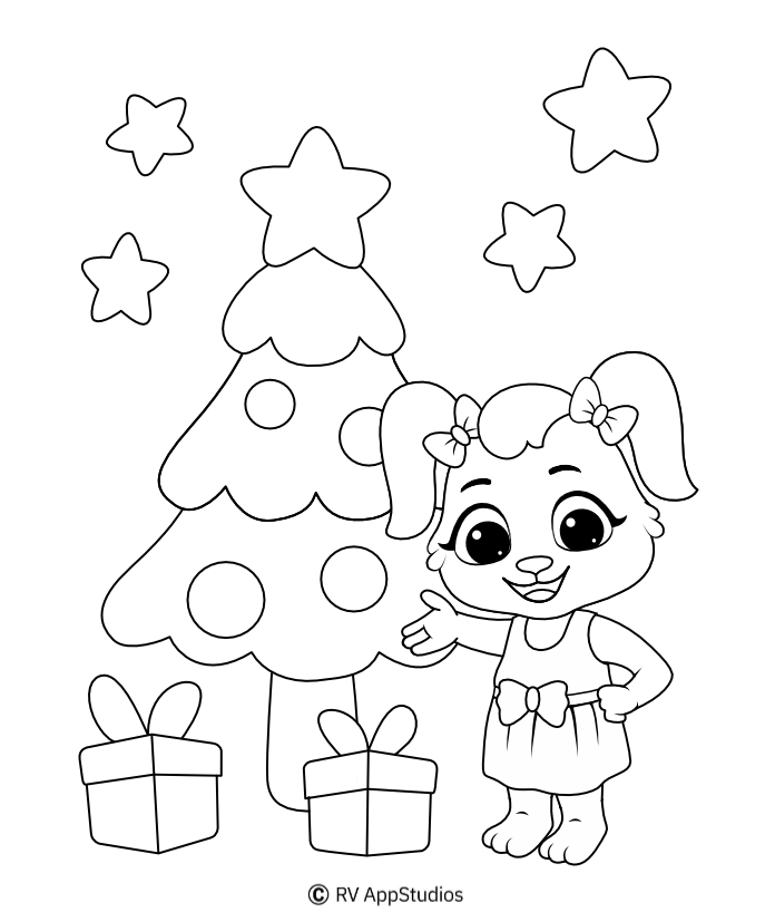 christmas tree coloring pages for kids christmas tree coloring pages for kids