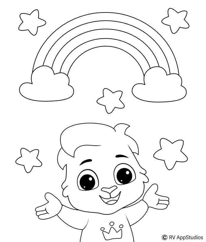 Free Rainbow Coloring Pages for kids | Printable Beautiful Rainbow pictures