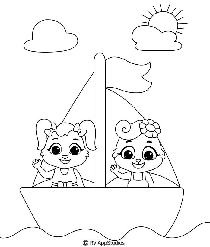 Printable Sea Coloring Pages