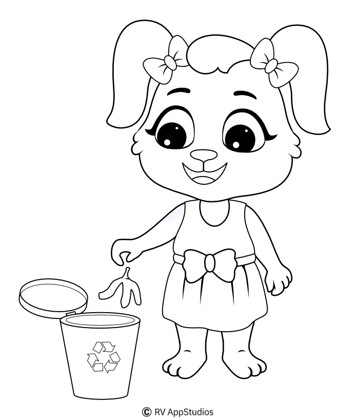 Printable Cleaning Coloring Pages
