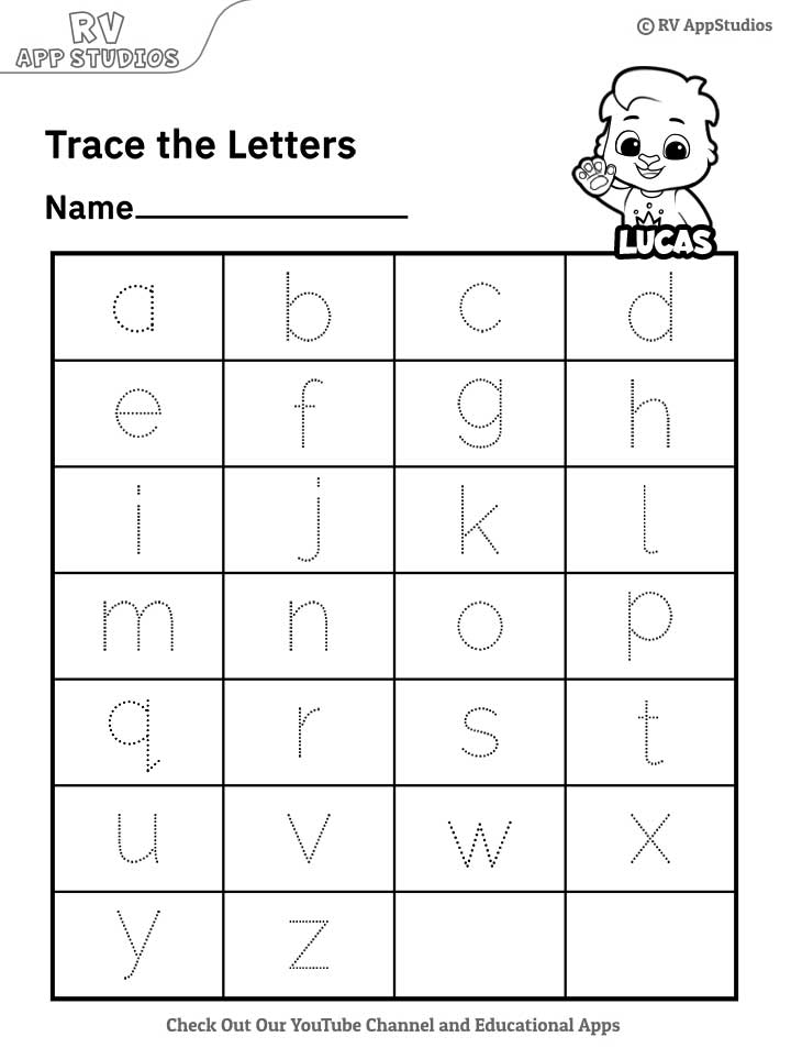 Lowercase Letters FREE Printable Worksheets