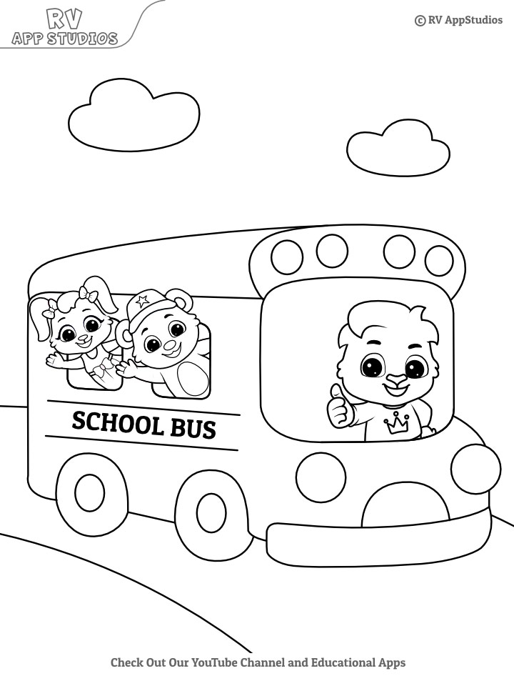 School Bus Coloring Page Free Coloring Pages