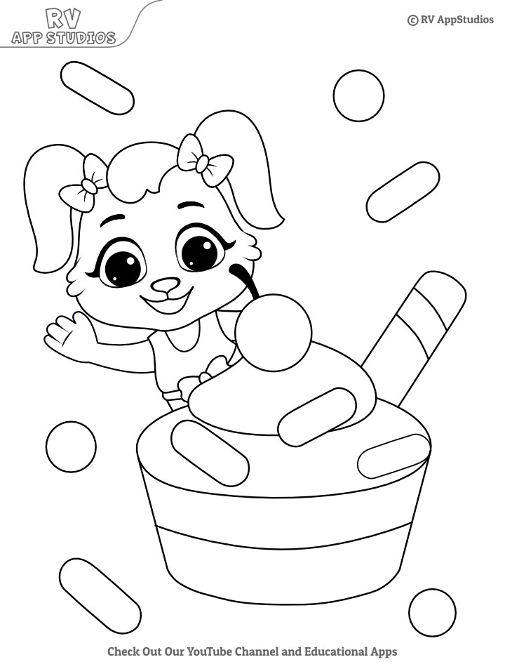 Cup Cake Coloring Pages For Kids