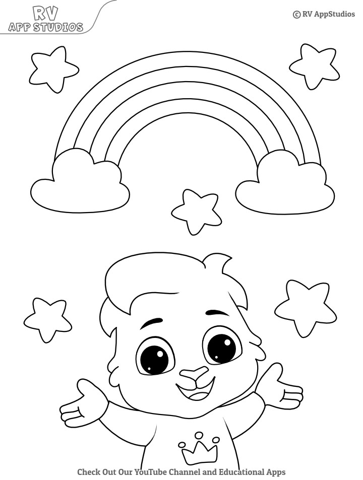 Free Rainbow Coloring Pages For Kids Printable Beautiful Rainbow Pictures